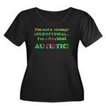 Normal Autistic Women's Plus Size Scoop Neck Dark