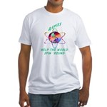 Aspies Spin the World Fitted T-Shirt