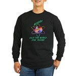 Aspies Spin the World Long Sleeve Dark T-Shirt