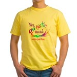 My Autistic Mind Yellow T-Shirt