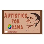 Autistics for Obama Sticker (Rectangle 50 pk)