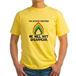 AS: We Will Not Disappear Yellow T-Shirt