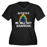 We Will Not Disappear Women's Plus Size V-Neck Dar
