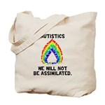 We Will Not Be Assimilated Tote Bag
