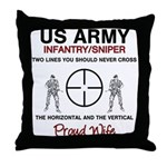 Infantry Sniper Crosshairs Wife Throw Pillow