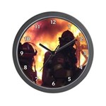 Firefighter Action Photo Wall Clock