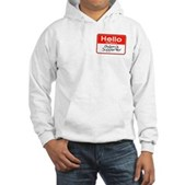 Obama Supporter Name Tag Hooded Sweatshirt
