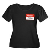 Obama Supporter Name Tag Women's Plus Size Scoop N