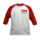 Obama Supporter Name Tag Kids Baseball Jersey