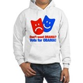 Vote Obama: No Drama! Hooded Sweatshirt