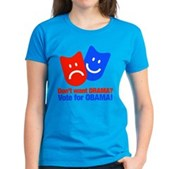 Vote Obama: No Drama! Women's Dark T-Shirt