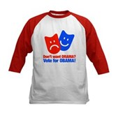 Vote Obama: No Drama! Kids Baseball Jersey