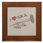 I Love Ska Framed Tile