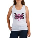 Breast Cancer Butterfly Women's Tank Top