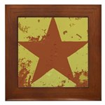 Rusty Star Framed Tile