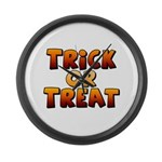 Trick or Treat Large Wall Clock
