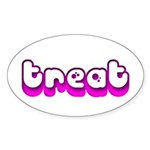 Retro Treat Oval Sticker (10 pk)