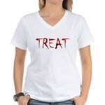Bloody Treat Women's V-Neck T-Shirt