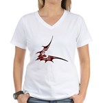 Vampire Bat 1 Women's V-Neck T-Shirt