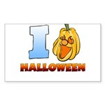 I Love Halloween Rectangle Sticker (Rectangle)