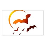 Flying Vampire Bats Rectangle Sticker 10 pk)