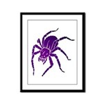 Purple Spider Framed Panel Print