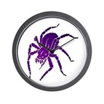 Purple Spider Wall Clock