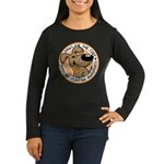 Paws for the Cure: Leukemia Women's Long Sleeve Dark T-Shirt
