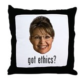 Anti-Palin Got Ethics? Throw Pillow