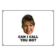 Anti-Palin Can I Call You Ho? Banner
