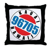 Kauai Hawaii 96705 Throw Pillow