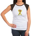 Sister Safe OIF yellow ribbon Women's Cap Sleeve T