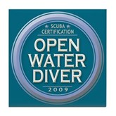 Open Water Diver 2009 Tile Coaster