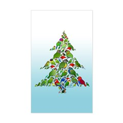 Birdorable Parrot Christmas Tree Sticker (Rectangle)