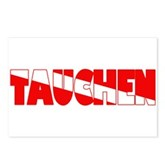 Tauchen German Scuba Flag Postcards (Package of 8)
