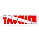 Tauchen German Scuba Flag Bumper Sticker