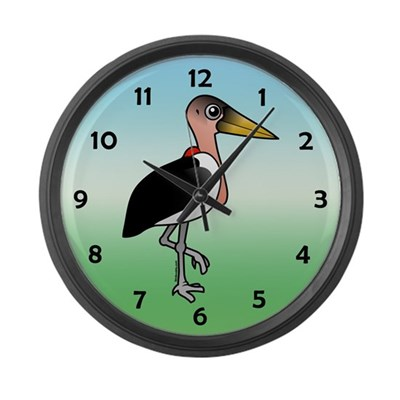 Birdorable Marabou Stork Large Wall Clock