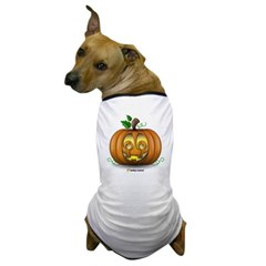 Pumpkin Smiley Dog T-Shirt