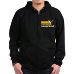 Black Belt in Keepin It Real Zip Hoodie (dark)