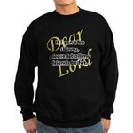 Lord, If I Can't Be Skinny, Let My Friends Be Fat Sweatshirt (dark)