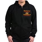 Trick or Treat Zip Hoodie (dark)