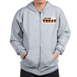 Glowing I'm the Treat Zip Hoodie