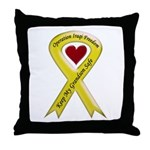 Keep My Grandson Safe Ribbon OIF Throw Pillow