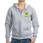 Bar Code Turtle Women's Zip Hoodie
