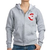 Scuba Flag Euro Sign Women's Zip Hoodie
