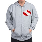 Text Bubble Dive Flag Zip Hoodie