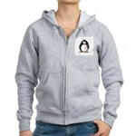 Breast Cancer penguin Women's Zip Hoodie