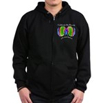 Celebrate Autistic Spectrum Zip Hoodie (dark)