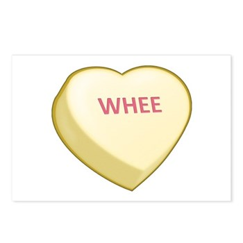 Whee Candy Heart Postcards (Package of 8)