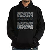 All Presidents up to Obama Hoodie (dark)
